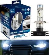 Philips X-treme Ultinon Led White H4 Two Bulbs Head Light Dual Beam Replacement