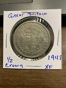 1948 Great Britain Half Crown. Nice Coin With Strong Details.