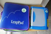 Leappad Learning Pad Plus Writing Leap Frog Books Lot With Traveling Case