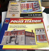 N Scale Life Like Trains 7481 5th Police Station And Bachmann 35154 Ss Drugs