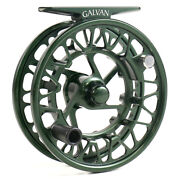 Galvan Brookie Fly Reel Green - Free Backing And Line Credit - Free Shipping