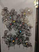 """Kef """"glorious Light 6"""" - Framed, Hand Signed  Screenprint Numbered 57/200 Co"""