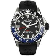Armand Nicolet Js9-41 Gmt Black 41mm Stainless Steel