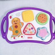 Fisher Price Laugh And Learn Sound Gingerbread Magnetic Cookie Tray Puzzle Works