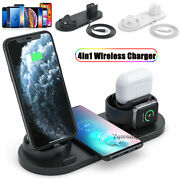 4in1 Qi Wireless Charger Charging Dock Pad For Samsung S7 S8 S9 S20 S21+ Note 10
