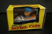 Patrol Cart Police Car Tin Toy Wind Up Made In Japan Showa Retro Vintage Used
