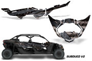 Half Graphics Kit Decal Wrap For Can-am Maverick X3 Max Ds Rs 4d 2016+ Subdued 2