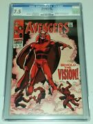 Avengers 57 Cgc 7.5 Off White To White Pages Marvel Comics 1st App Vision Sa