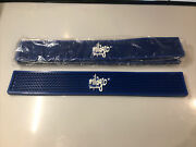 Milagro Tequila Beer Bar Rail/ Party Rubber Bright Blue Spill Mat 23.5x3.5