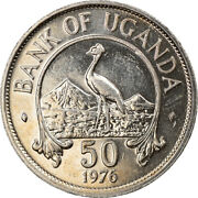 [919162] Coin, Uganda, 50 Cents, 1976, Au, Copper-nickel Plated Steel, Km4a