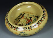 Chinese Old Porcelain Handwork Painting Belle Ashtray Rn