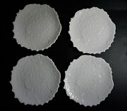 Spode New England White Bone China Holly Luncheon Plates Set Of 4