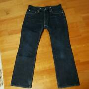 Iron Heart 461z 100 Cotton 21oz Denim Pants Jeans W33 Used From Japan