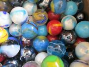 Marble Lot 2 Pounds Of 1 Inch Premium Mix Mega / Vacor Marbles Free Shipping