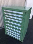 10-drawer Staley Vidmar Cabinet W/ 424 Lbs. Of Taper Drills -new And Used-