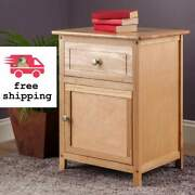 Winsome Eugene Accent Nightstands Table, W/ 2 Drawer Natural