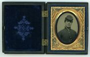 Young Union Civil War Soldier Possibly Teenager Tintype Photo
