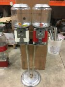 Beaver Double Head Gumball Candy Nut Bulk Vending Machine Complete With Lock Key