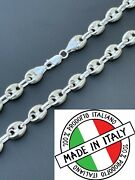 925 Sterling Silver 8mm Puffed Mariner Link Chain Necklace Bracelet 7-30