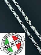 Mens 925 Sterling Silver 5mm Custom Anchor Rolo Link Chain Necklace Or Bracelet
