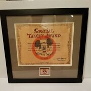 Disney 1950's Mickey Mouse Club Talent Award Certificate And Pin