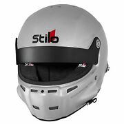 Stilo St5 Gt Composite Fia And Snell Approved Race Helmet Silver With Fhr Posts