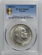 Prussia 1 Thaler 1855 Pcgs Ms62 King Frederick William Iv 1840 -1861