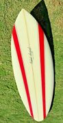 Robert August Surfboard 87 Round Tail Tri Fin - Vintage 1980and039s