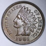 1901 Indian Head Cent Penny Choice Unc Free Shipping E137 Jcp