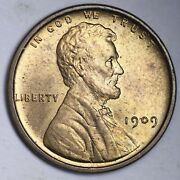 1909 Vdb Lincoln Wheat Cent Penny Choice Bu Red Free Shipping E149 Knm