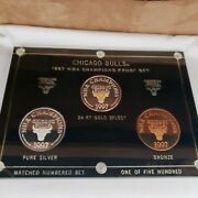 Chicago Bulls 96-97, .999 Fine Silver Enviromint Rounds 3 Coin Proof Set 1/500