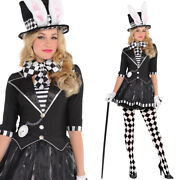 Ladies Mad Hatter Costume Including Tights And Hat