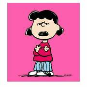 Peanuts, Lucy Pink Hand Numbered Canvas 40x44