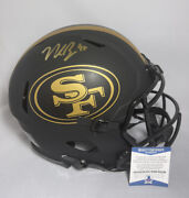 Nick Bosa Signed 49ers Full Size Eclipse Authentic Helmet Bas Coa Wc52789