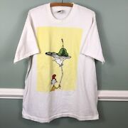 Vintage 1990s Green Eggs And Ham T Shirt Very Rare Xl White Dbl Sided