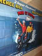 Pair Impair Terence Hill B Spencer Movie Poster French Billboard 8 Panels 1978