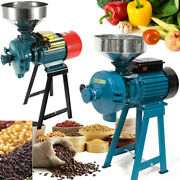 3kw Electric Grinder Feed Mill Dry/wet Grinder Cereals Corn Coffee Grain +funnel
