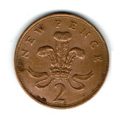 Very Rare New Pence 1980 2p Coin With Elizabeth Ii