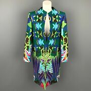 Manish Arora Size L Multi-color Woven Silk Open Front Hand Crafted Coat