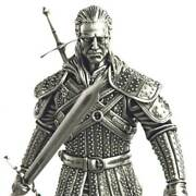 Niue 2021 - The Witcher Book - Geralt Of Rivia - White Wolf 10 Silver Coin 5 Oz