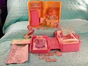 2 Vintage 1995 Cabbage Patch Kids Play N Go Playsets And Accessories W/ 1 Doll