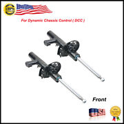 2x Front Electric Adjust Shock Absorbers Ads For Vw Eos Passat Cc Gti Tiguan