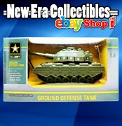 Us Army Ground Defense Tank Remote Controlled Flashing Lights Rotating Turret