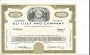Eli Lilly And Company.......abn Specimen Common Stock Certificate