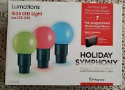 Lumations Holiday Symphony 15.8ft 20ct G35 Multicolor Led Music Light Show
