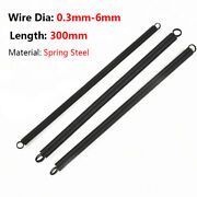 Wire Dia 0.3mm-6mm Expansion Tension Springs Loop End O.d 3mm-50mm Length 300mm