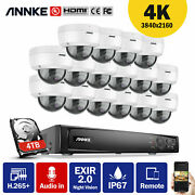 Annke 4k 8ch 16ch Nvr 8mp Security Camera System Audio Recording Ip Network Ik10