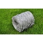 Roll Barbed Wire 4 Point 2-wired Coverage Fencing Arts Crafts Accessory