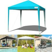 Quictent Folding Gazebo 10and039x10and039 Ez Pop Up Canopy Heavy Duty Commercial Tent Us
