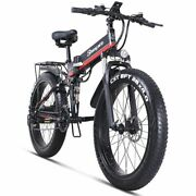Adult Electric Bicycle Fat Tire Folding Battery Mountain Motor Snow Bike